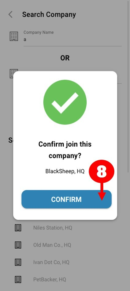 sign up and join company 8